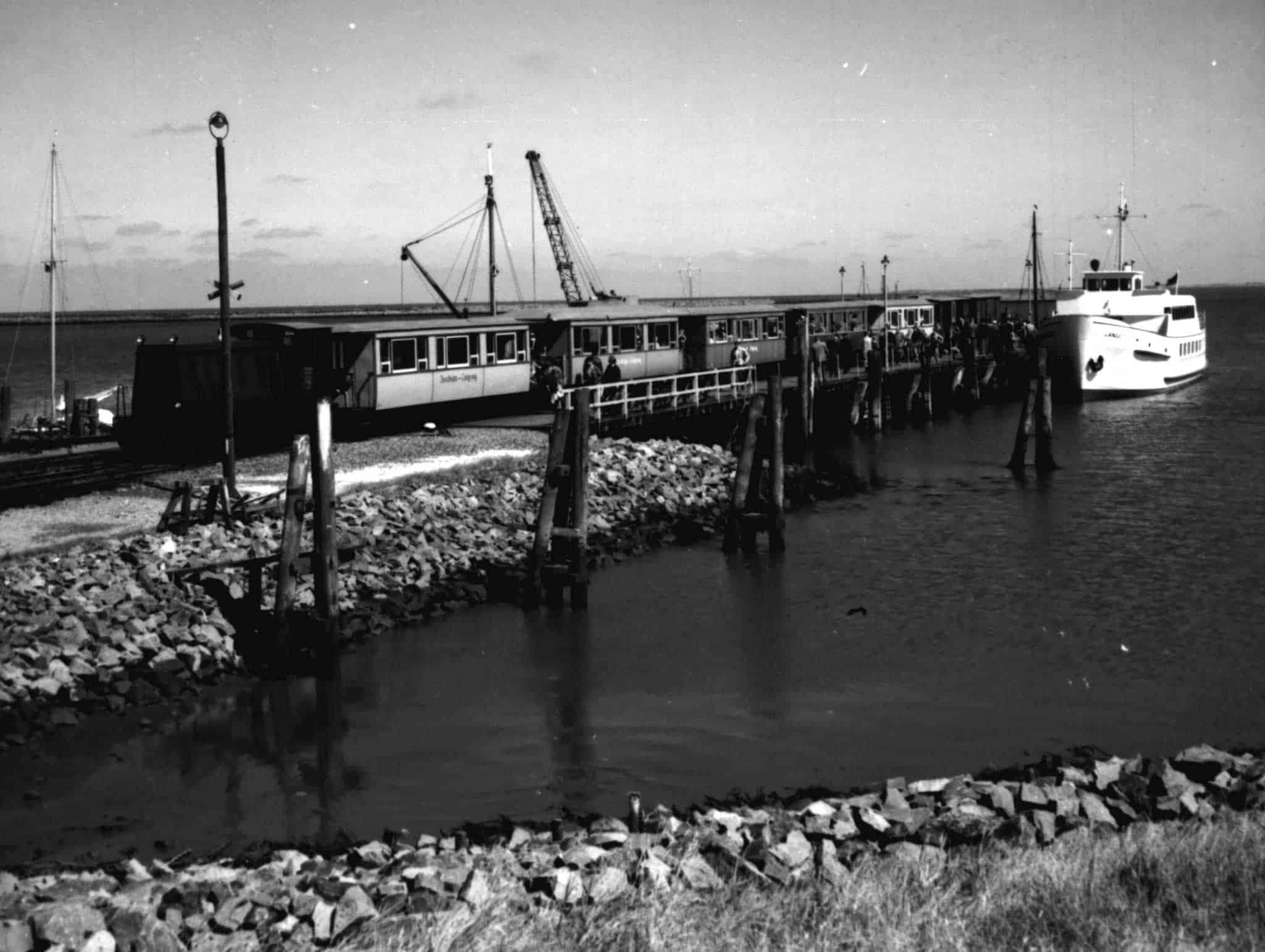 Hafen Langeoog 1950