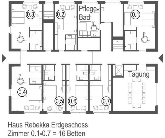 Meedland Haus Rebekka Plan EG